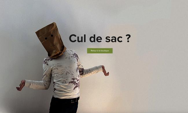 Erreur 404 site ecommerce