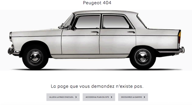 Page 404 Peugeot