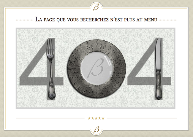 Page 404 restaurant