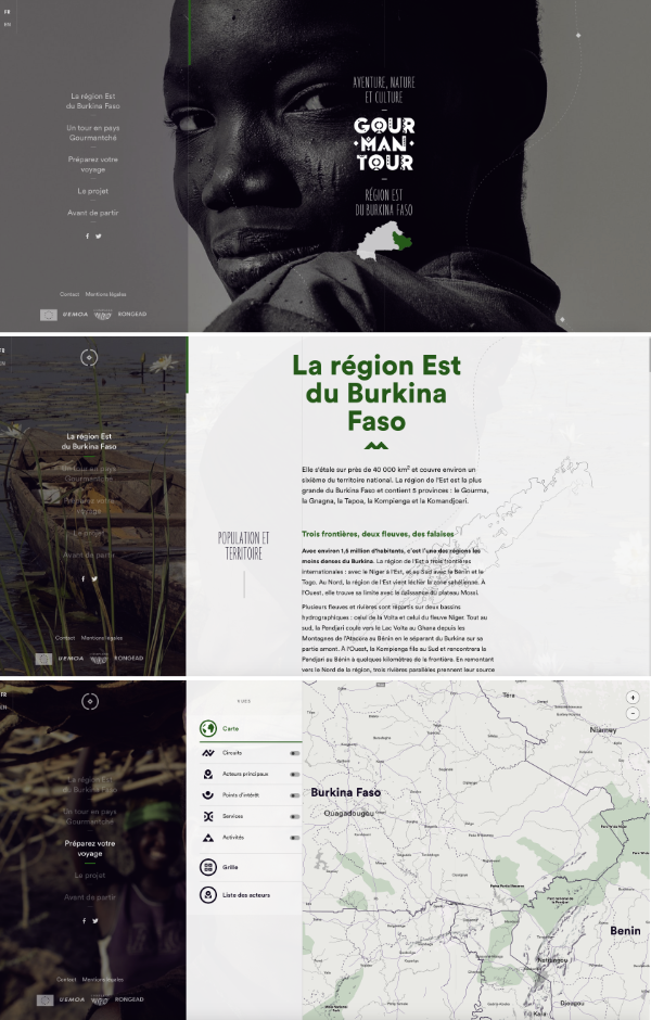 Site interactif Burkina Faso