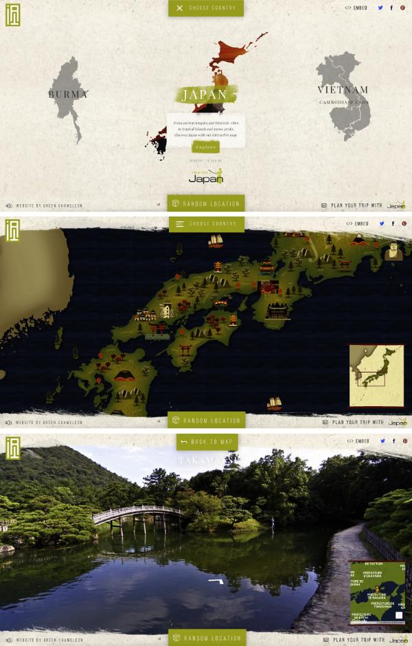 Site interactif voyage Asie
