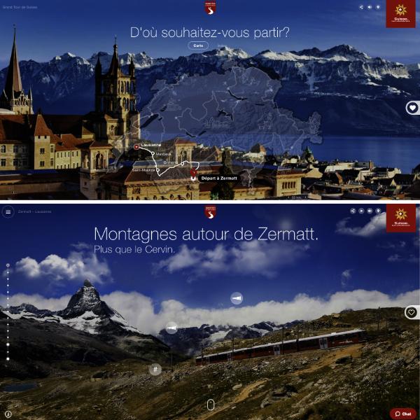 Site interactif voyage Suisse