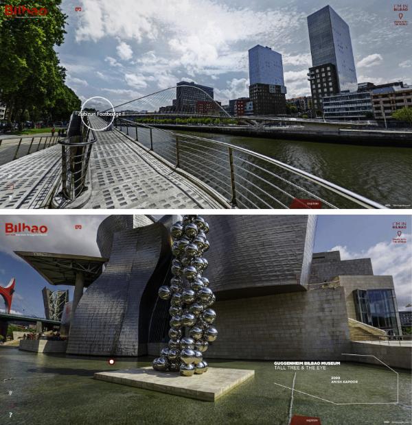 Site réalité virtuelle Bilbao