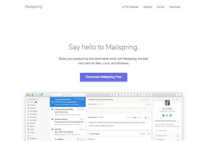 client de messagerie mailspring