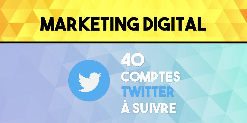 Comptes Twitter à suivre pour une veille en marketing digital