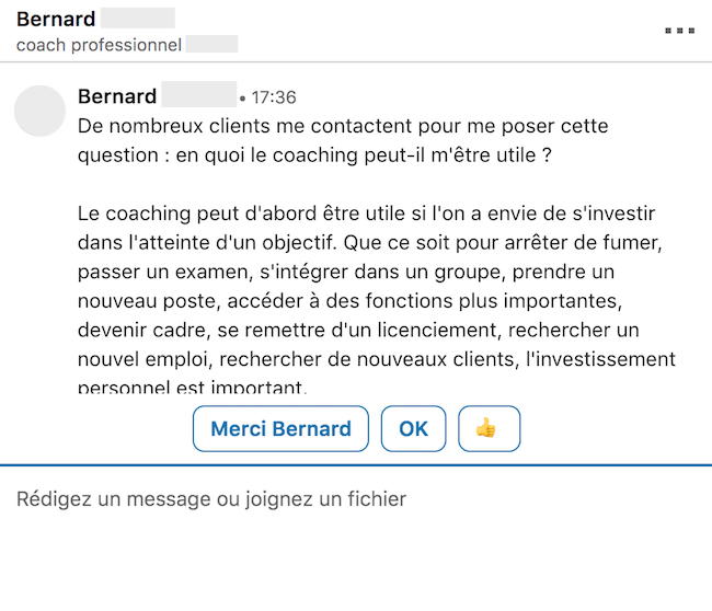 Linkedin erreur emailing