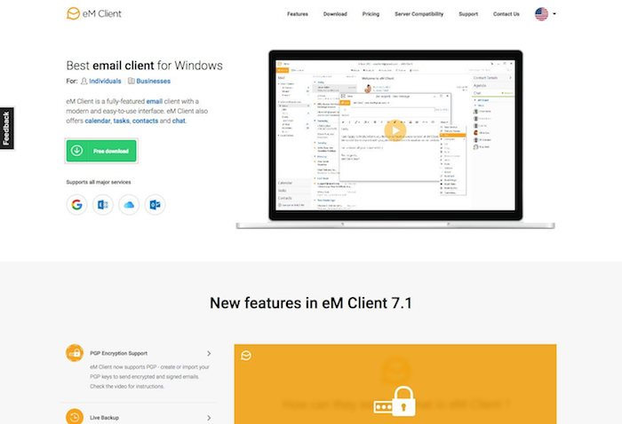 logiciel de messagerie em client