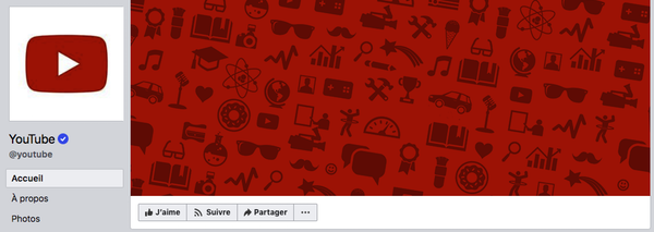Couverture Facebook icônes Youtube