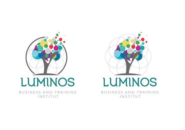 Logo rond forme organique