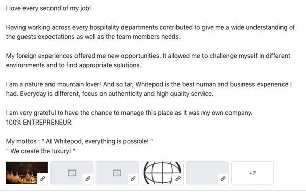 Exemple résumé Linkedin