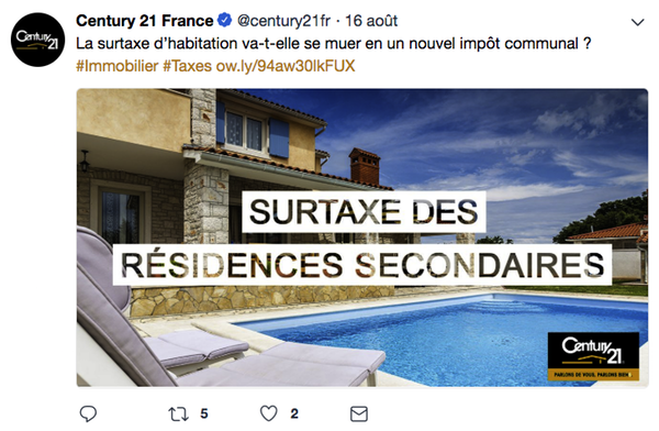 Article agent immobilier Twitter