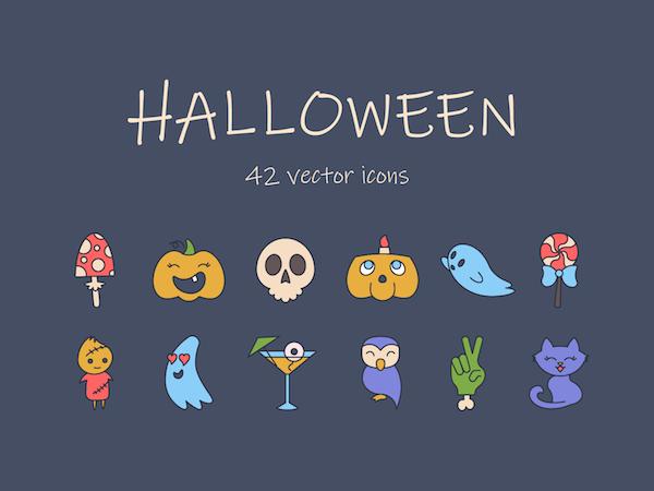 42 icones Halloween