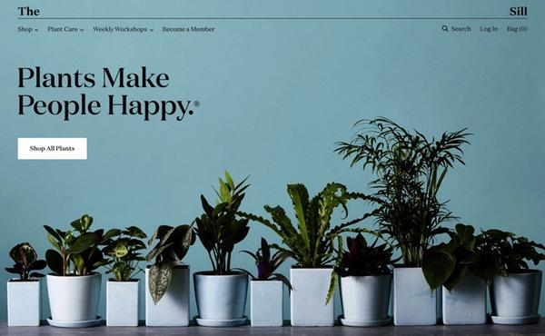 Design accueil e-commerce