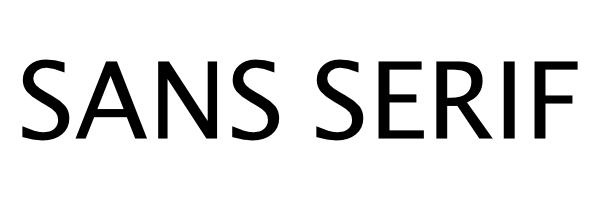 Exemple police sans serif