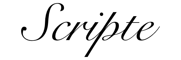 Exemple police scripte