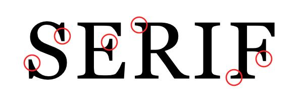 Exemple police Serif