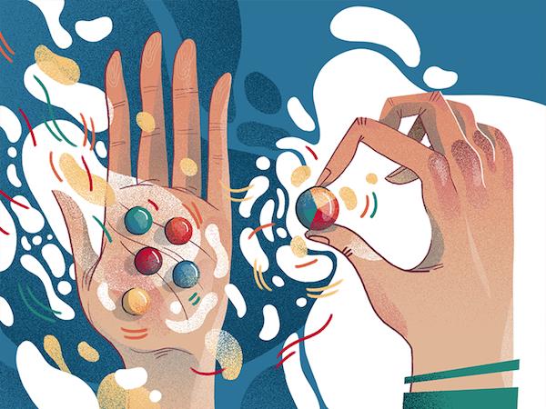 Illustration hand flat design