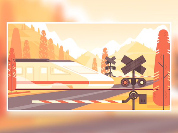 Illustration train flat
