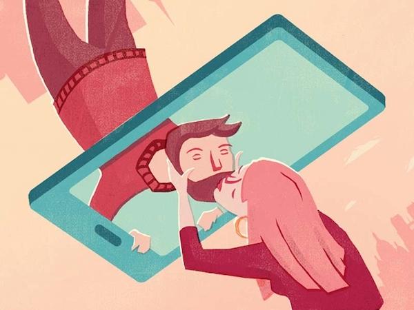 Flat illustration love