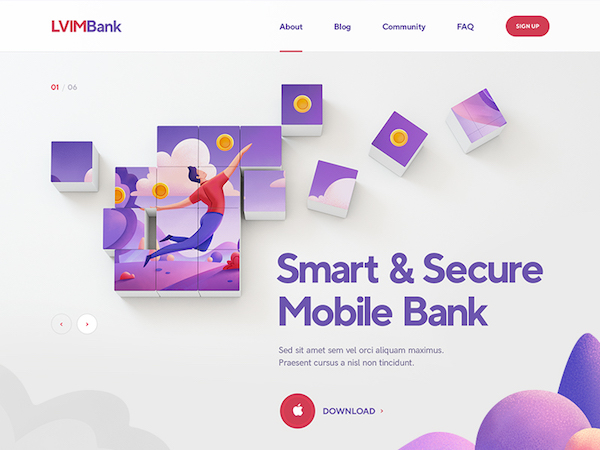 Flatt illustration LVIM Bank