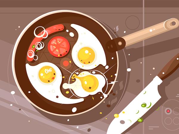Cook flat illustration