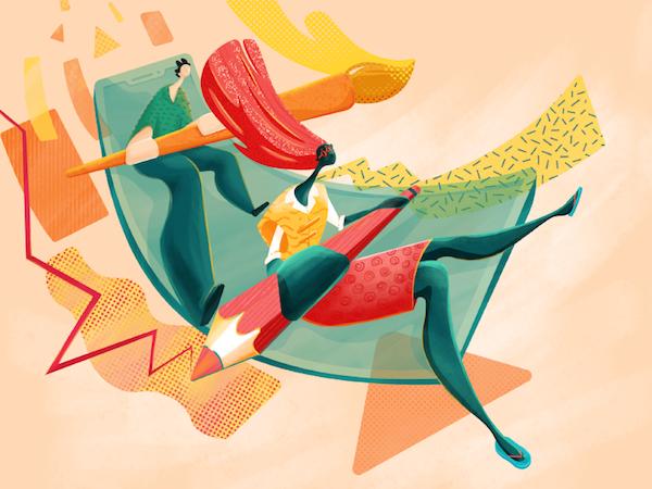 Painting illustration flat design