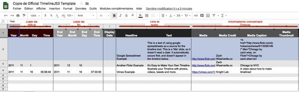 Google Sheet Timeline