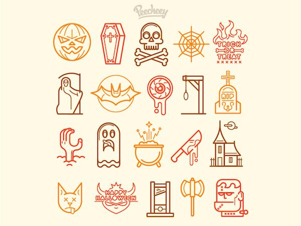 icônes halloween
