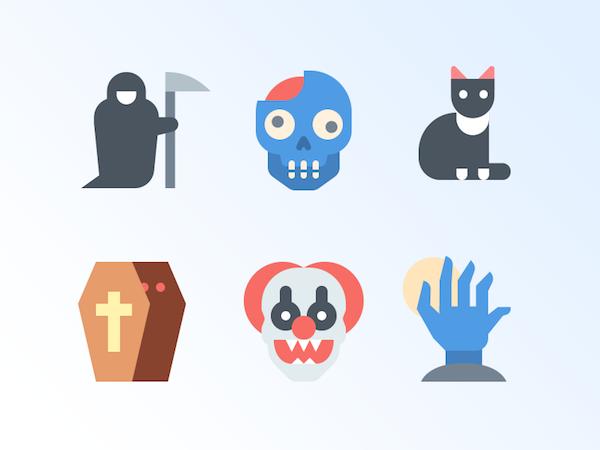 Flat icone Halloween