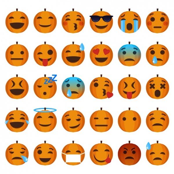 Pumpkin icons set