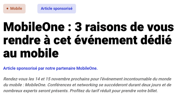 Mention article sponsorisé