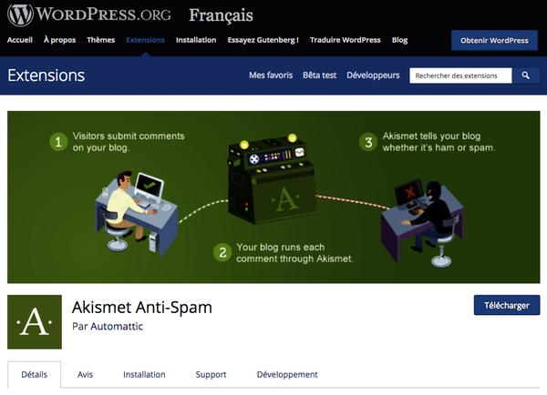 Plugin Akismet WordPress