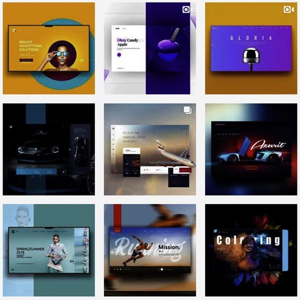 Feed instagram webdesign color