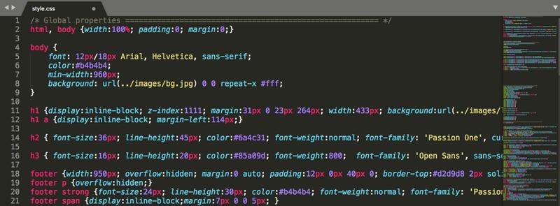 Organiser feuille CSS