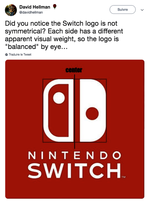Symétrie logo Nintendo Switch
