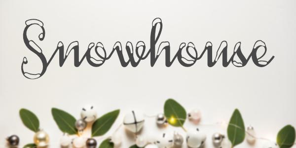 Typo noel Snowhouse