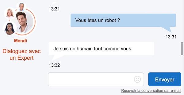 Chatbot humain