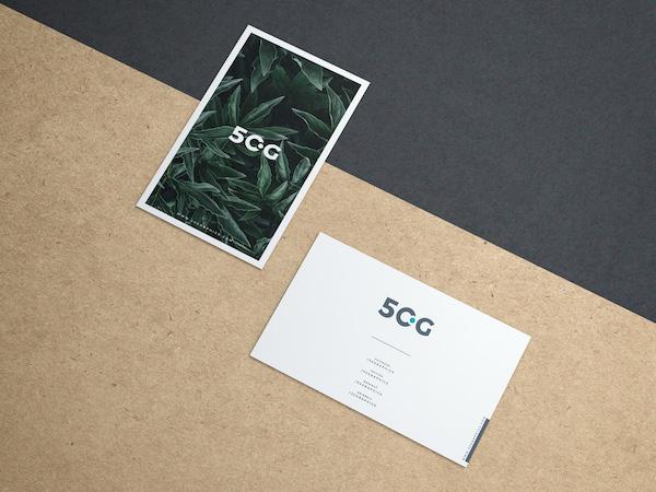 Business card kraft paper
