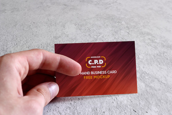 In Hand business card