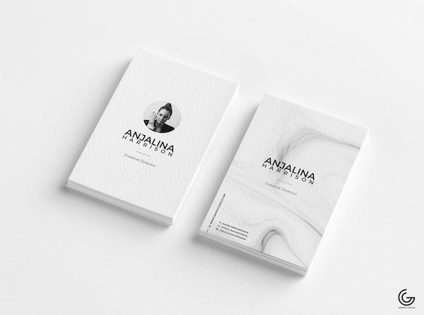 Modern texture business card