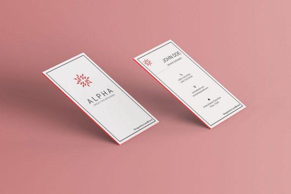 Vertical business card mockup
