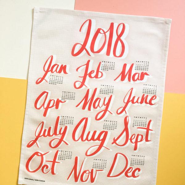 Calendrier 2018 tissu