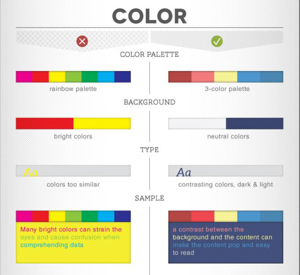 Couleurs infographie