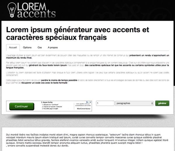 Lorem Accents