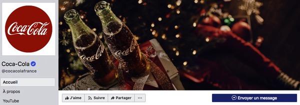 Facebook Coca Cola Noël