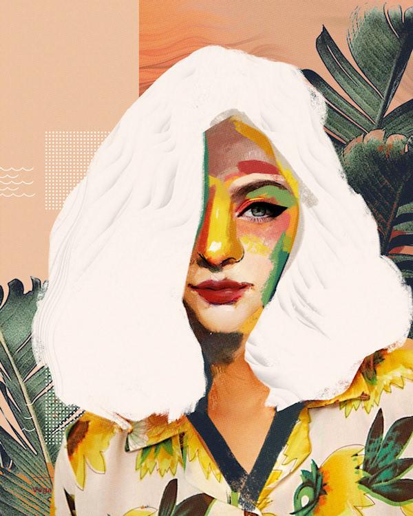 Collage numérique portrait