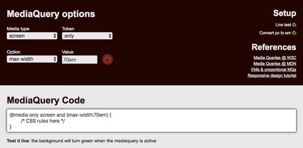 Media Queries Generator