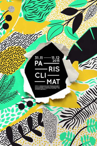 Paris climat affiche 3d