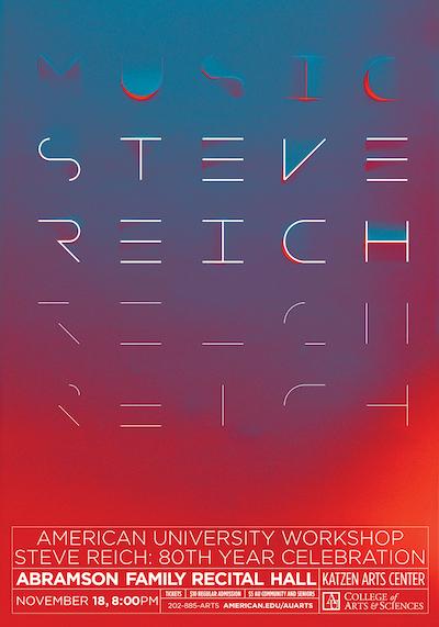 Steve Reich affiche 3d