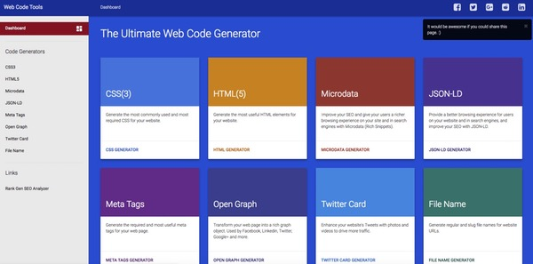 Ultimate Web Code Generator